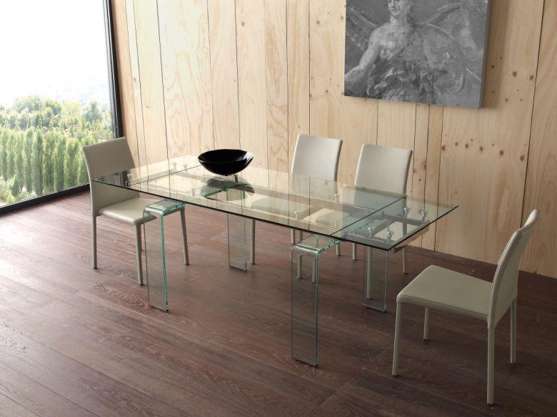 Tavolo Mini Glass 676/2 tavoli cristallo allungabili - tavoli